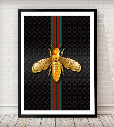 Fashion Bee Art Print - Rock Salt Prints