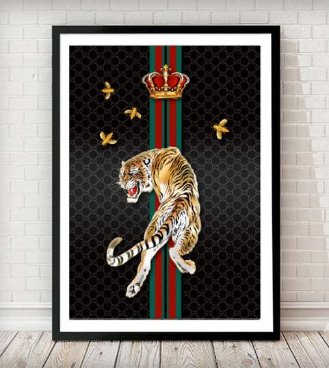 Fashion Tiger Art Print - Rock Salt Prints
