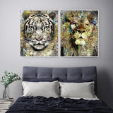 Abstract Lion Animal Art Print - Rock Salt Prints Ltd