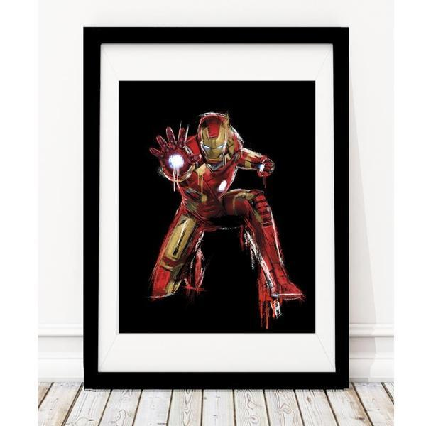 Ironman Inspired Art Print - Black - Rock Salt Prints Ltd