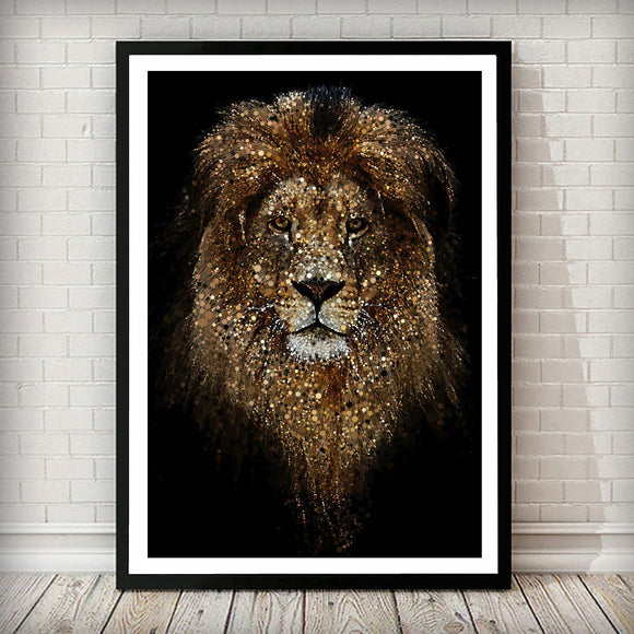 Lion Confetti Animal Art Print - Rock Salt Prints Ltd