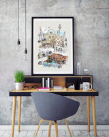 Liverpool Retro City Print - Rock Salt Prints Ltd