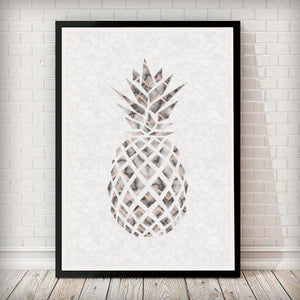 Pineapple Marble Abstract Home Decor Art Print - Rock Salt Prints