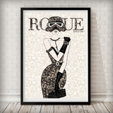 Moulin Rogue One - Stormtrooper Art Print - Rock Salt Prints Ltd