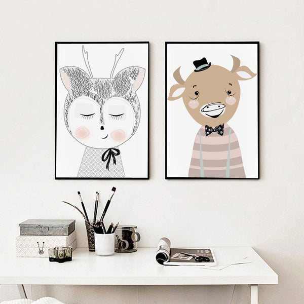 Mr. Cow Pastel Nursery Art Print - Rock Salt Prints Ltd