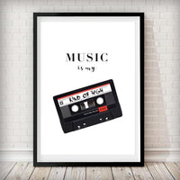 Music is My kind of high - Typography Art Print - Rock Salt Prints Ltd