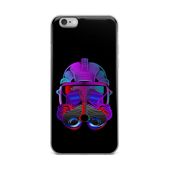 Neon Storm Trooper iPhone Case - Rock Salt Prints Ltd
