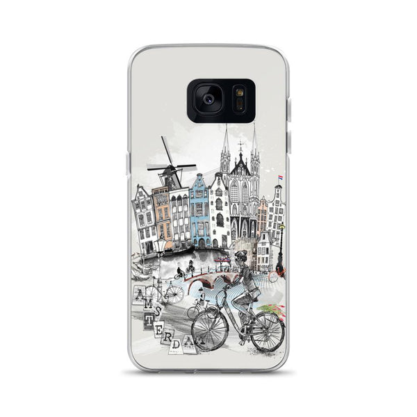 Amsterdam Retro City Samsung Phone Case - Rock Salt Prints Ltd