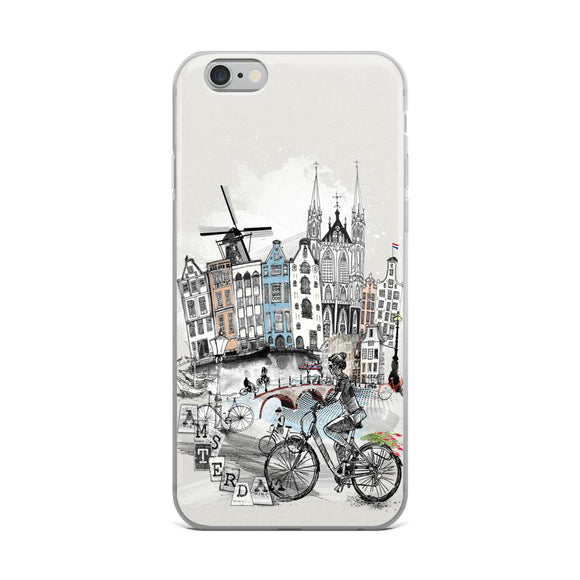Amsterdam Retro City iPhone Case - Rock Salt Prints