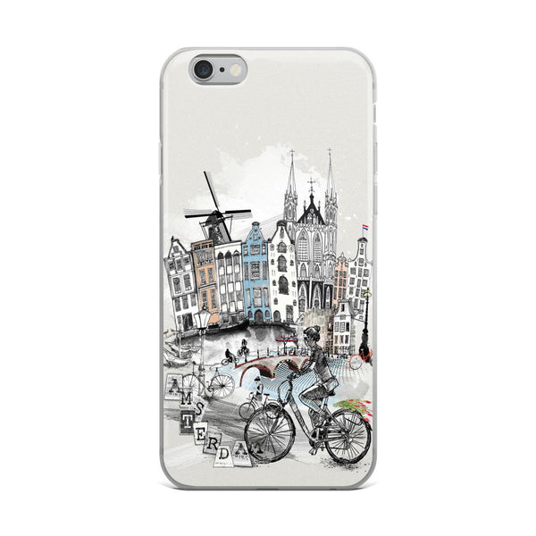 Amsterdam Retro City iPhone Case - Rock Salt Prints Ltd