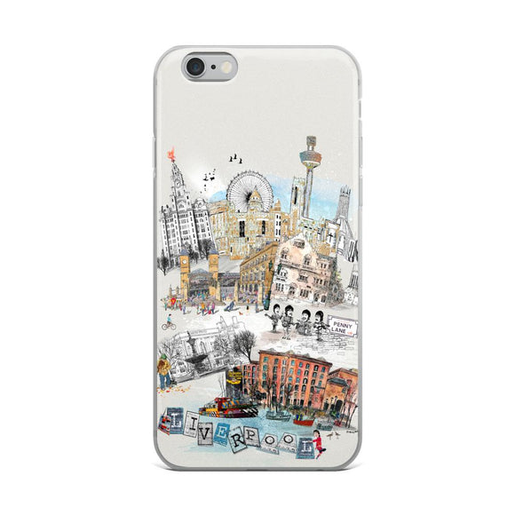 Liverpool Retro City iPhone Case - Rock Salt Prints Ltd