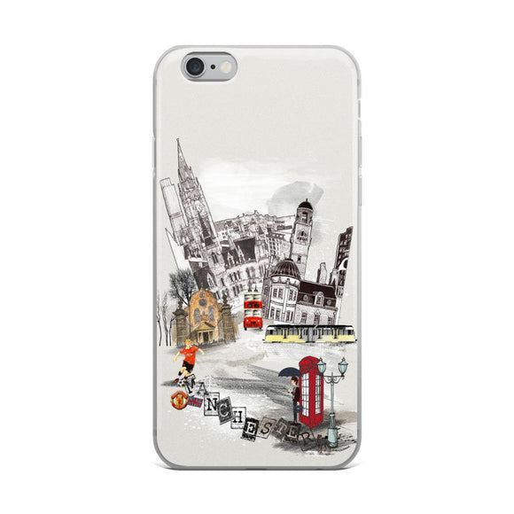 Manchester Retro City iPhone Case - Rock Salt Prints Ltd
