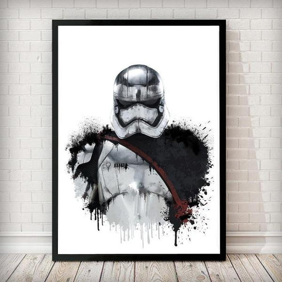 Dripping Star Wars Poster, Captain Phasma Art Print - Rock Salt Prints
