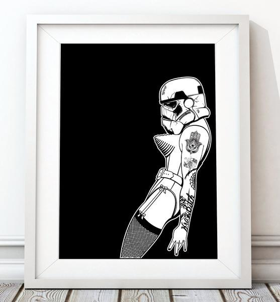 Vogue One Star Wars Poster, Stormtrooper Art Print - Rock Salt Prints Ltd