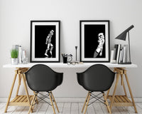 Moonwalker and Vogue One Star Wars Poster Set, Unique Stormtrooper Art Prints - Rock Salt Prints Ltd