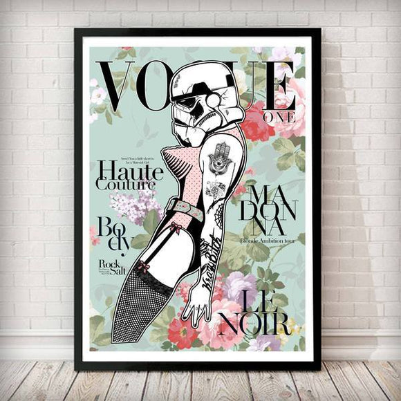 VOGUE - Stormtrooper Madonna Vintage Star Wars Art Print - Rock Salt Prints Ltd