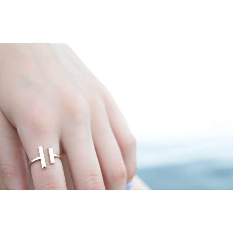 Adjustable Geometric Ring - Gold Ring