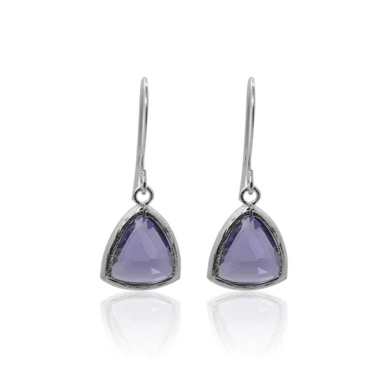 Amethyst Athena - Silver Earrings earrings