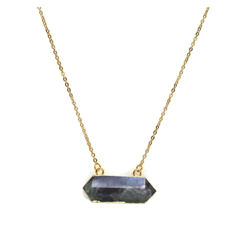 Amethyst Bar Necklace Necklace