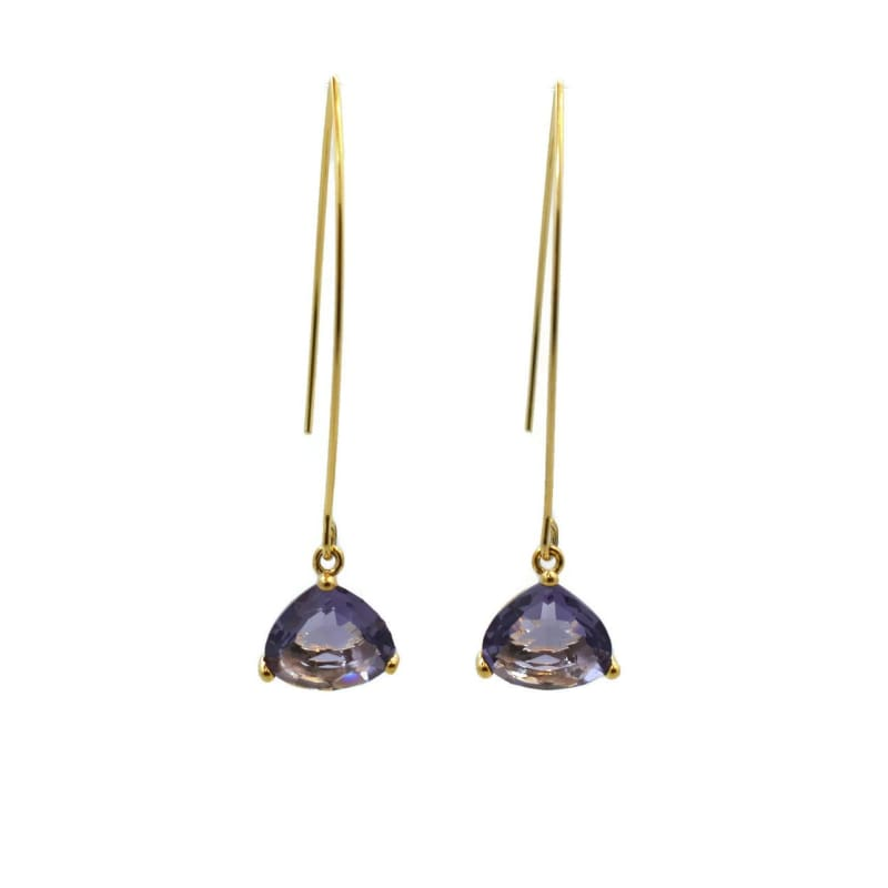 Amethyst Cleo Gold Earrings Earrings