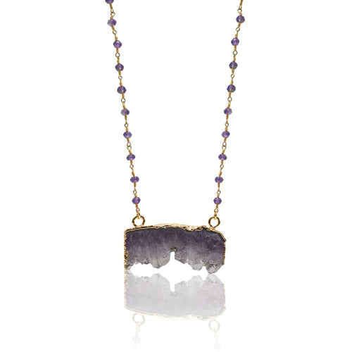 Amethyst Geode Necklace Necklace