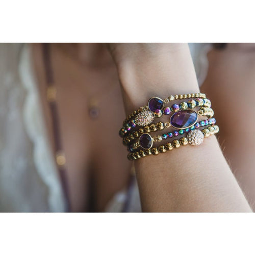 Amethyst Mini Stretch Bracelet Bracelet