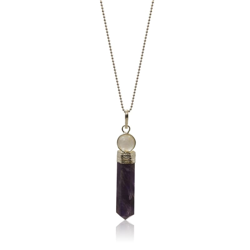 Amethyst Orb - Quartz Crystal Ball Necklace