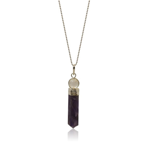 Amethyst Power Necklace - Gold
