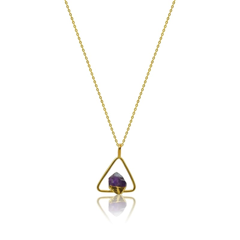 Amethyst Power Necklace - Gold Necklace