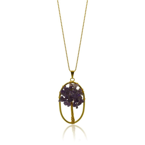 Capri Dew Drop - Gold Quartz Necklace