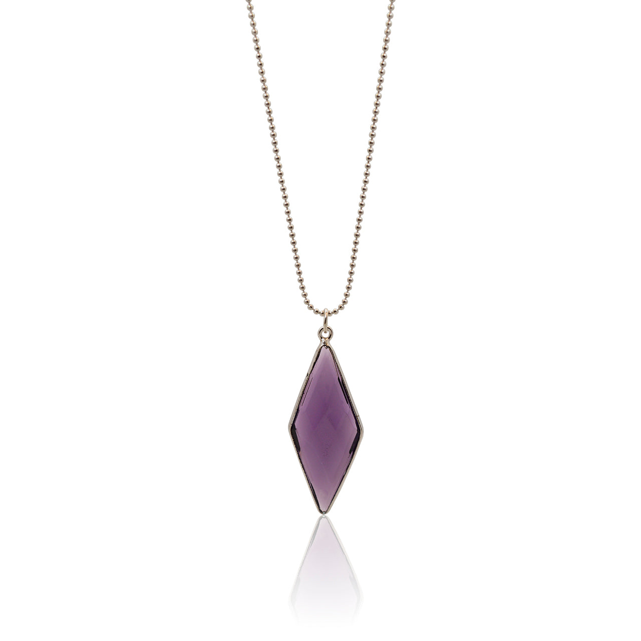 Amethyst Spike Necklace - Hydro Quartz