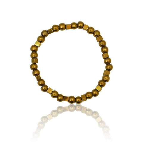 Druzy Black Agate Adjustable Bracelet - Gold