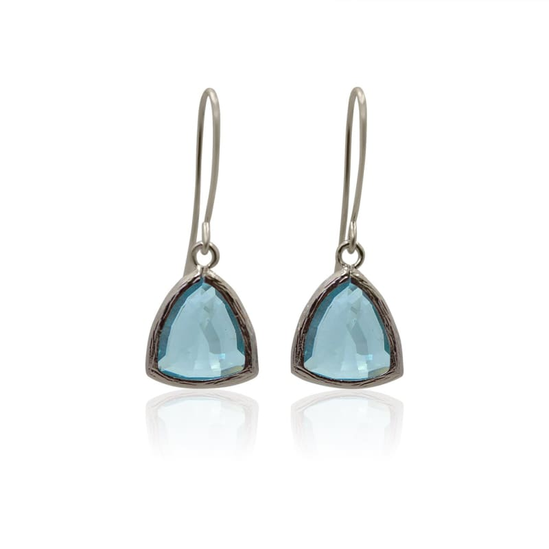 Aqua Athena Earrings - Silver Earrings