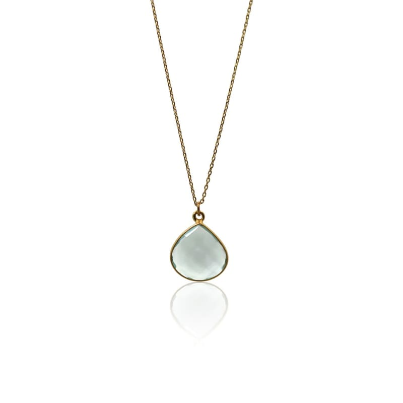 Aqua Mini Drop Necklace Necklace