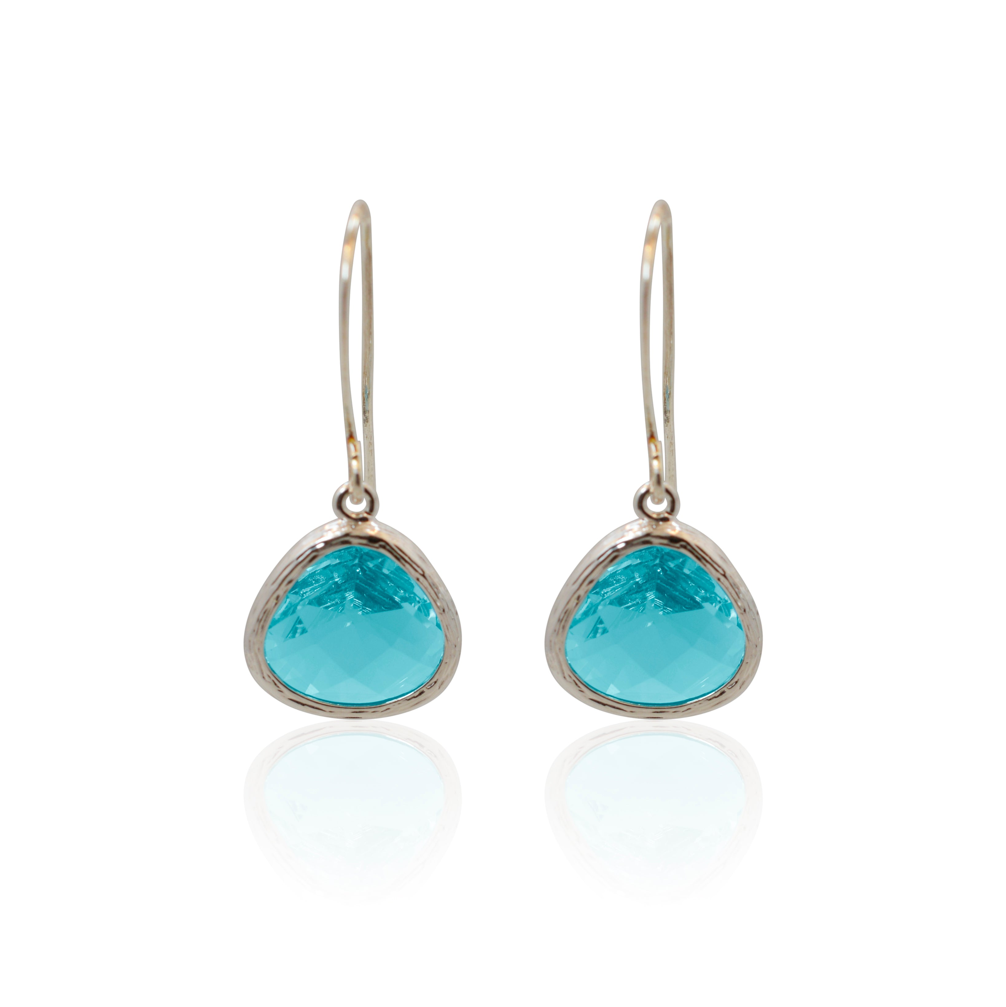 Aqua Mini Drop Earrings