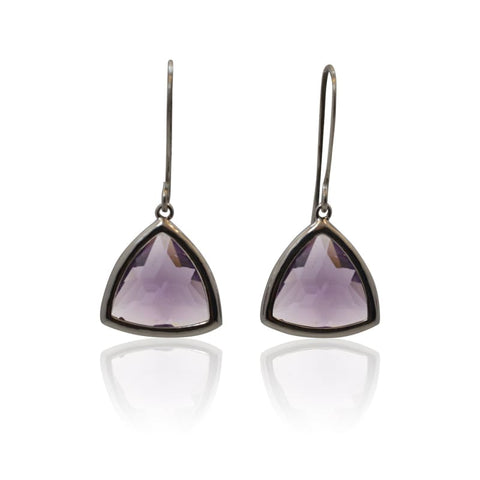 Aria Amethyst Gold Earrings