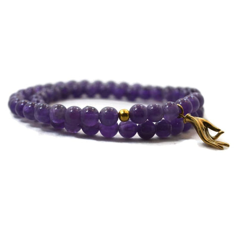 Mala Kit - LIMITED EDITION GURU BEAD- DIY Mala Kit - Amethyst - PEACE and SPIRITUALITY