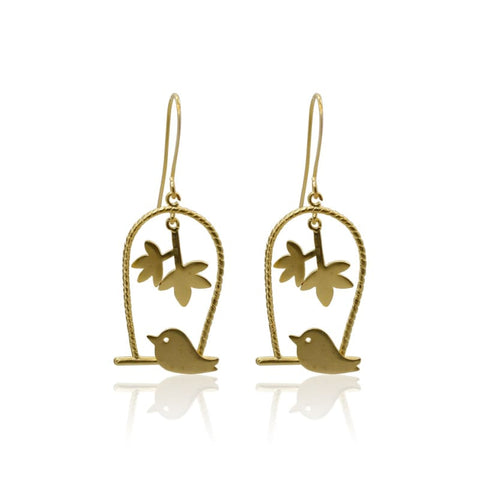 Love Birds - Long Earrings