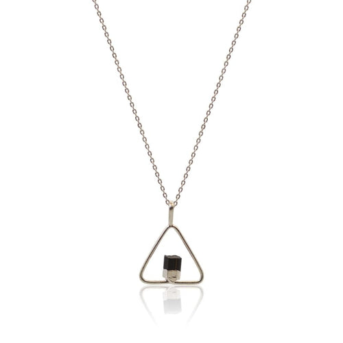 Black Tourmaline Power Necklace - Silver Necklace