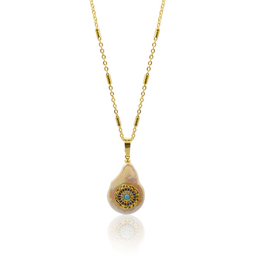 Third Eye Blue Pearl Necklace