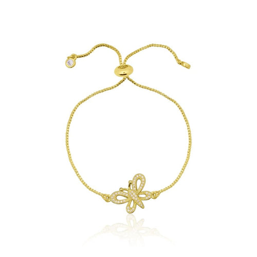 Butterfly Adjustable Gold Bracelet necklace