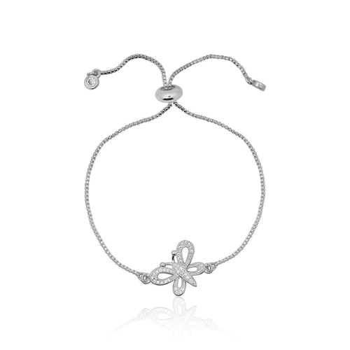 Butterfly Adjustable Silver Bracelet bracelet