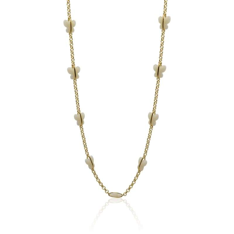 Butterfly Chain Necklace - Gold 14-16 necklace