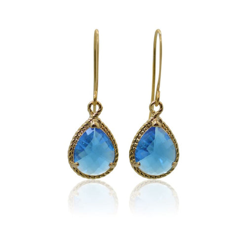 Capri - Exquisite Gold Earrings Earrings