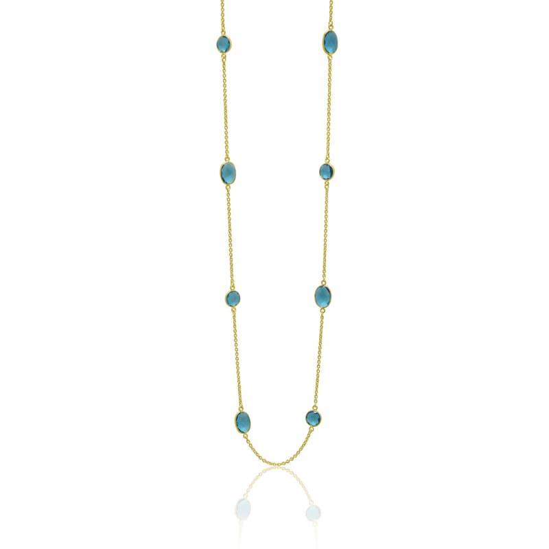 Capri Goddess Bezel Chain - Hydro Quartz Necklace