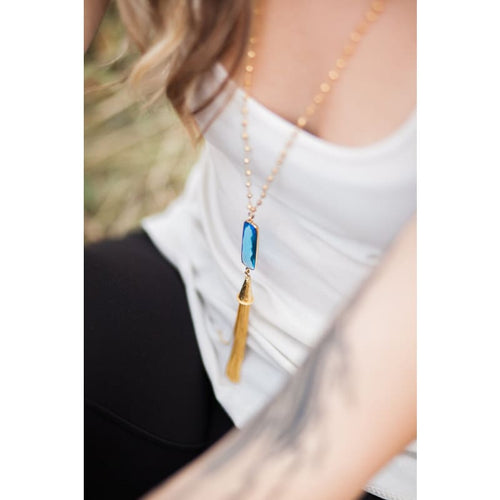 Capri - Gold Tassel Necklace Necklace