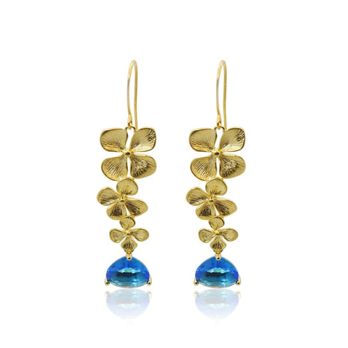 Cleo Orchid Gold Earrings earrings
