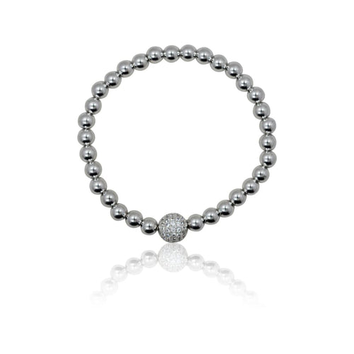 Crystal Ball Stretch Bracelet Bracelet
