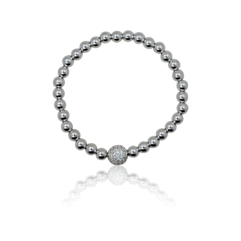 Third Eye Crystal Adjustable Bracelet - Silver