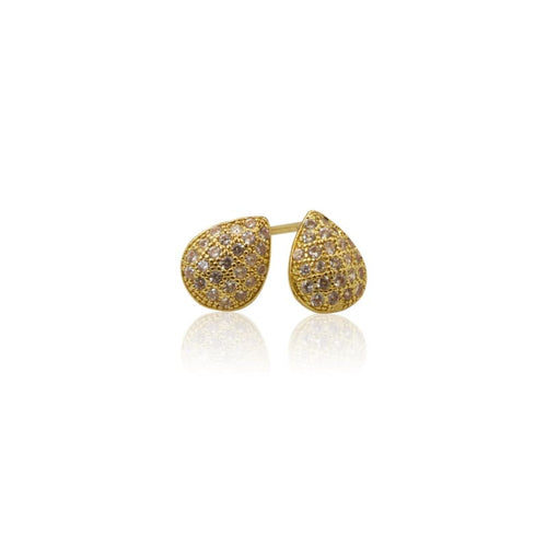 Crystal Mini Studs - Gold earrings